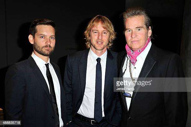 Tobey Maguire Owen Wilson and Val Kilmer attend The Broad Museum Black Tie Inaugural Dinner at The Broad on September 17 2015 in Los Angeles...
