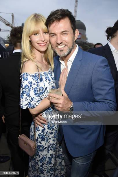 Tobey Wilson and his girlfriend Sabrina Gehrmann attend the Bertelsmann Summer Party on June 22 2017 in Berlin Germany