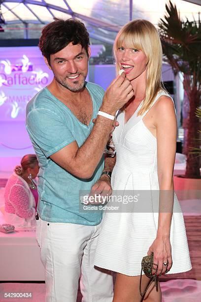 Tobey Wilson and his girlfriend Sabrina Gehrmann during the Raffaello Summer Day 2016 to celebrate the 26th anniversary of Raffaello on June 24 2016...