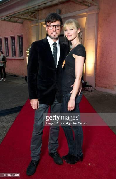 Tobey Wilson and his wife Sabrina Gehrmann attend the 'Fest der Eleganz und Intelligenz' at Villa Siemens on September 20 2013 in Berlin Germany