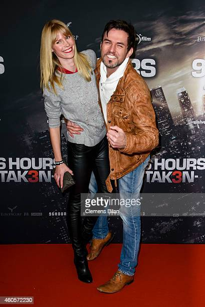Tobey Wilson and Sabrina Gehrmann attend the premiere of the film '96 Hours Taken 3' at Zoo Palast on December 16 2014 in Berlin Germany