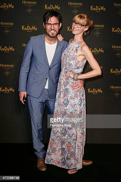 Tobey Wilson and Sabrina Gehrmann during the Hennessy 250th anniversary celebrations on May 05 2015 in Berlin Germany