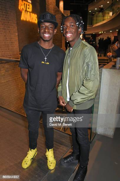 Tobi Brown and Manny Brown attend The KA GRM Daily Rated Awards at The Roundhouse on October 24 2017 in London England