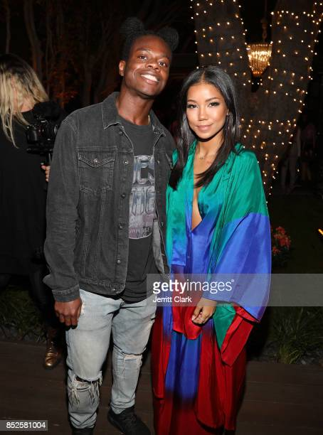 Tobi Lou and Jhene Aiko attend Jhene Aiko's TRIP launch party powered by Samsung at EB Gallery on September 22 2017 in Los Angeles California