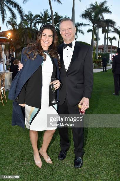 Tobi Petrocelli and General Raymond Palumbo attend President Trump's one year anniversary with over 800 guests at the winter White House at MaraLago...