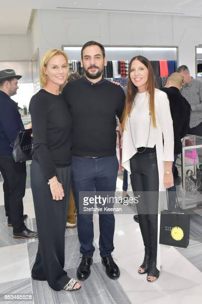 Tobi Sargent Matthew Mazzucca nd Sharon Taylor attend Barneys New York Celebrates Haas for the Holidays Hosted by Matthew Mazzucca Nikolai Haas and...