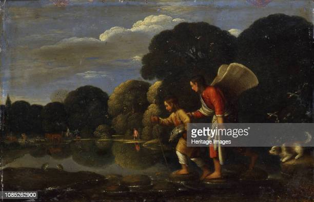 Tobias and the Archangel Raphael returning with the Fish End of 16th century Found in the Collection of State A Pushkin Museum of Fine Arts Moscow