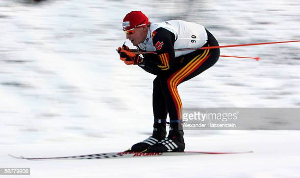 Tobias Angerer of Germany competes in the men's freestyle 15 kilometre cross country at the FIS World Cup on November 26, 2005 in Kuusamo, Finland.