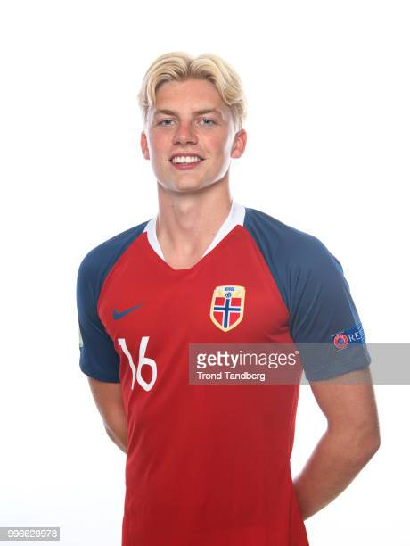 Tobias B Borkeeeiet of Norway during G19 Men Photocall at Thon Arena on July 11 2018 in Lillestrom Norway