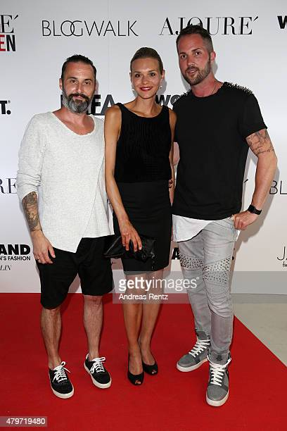 Tobias Bojko and Daniel Heilig attend the AJOURE Berlin Fashion Week Opening Party at LNFA Space Bikini Berlin on July 6 2015 in Berlin Germany