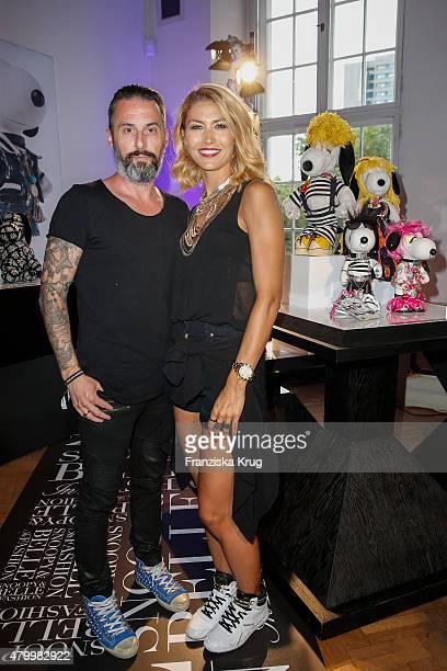 Tobias Bojko and Fiona Erdmann attend Snoopy Belle Vernissage at MercedesBenz Fashion Week Berlin Spring/Summer 2016 at Ermelerhaus on July 08 2015...