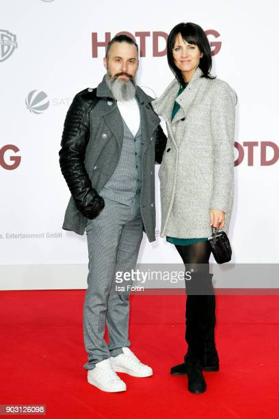 Tobias Bojko and Mareen Steinacker attend the 'Hot Dog' world premiere at CineStar on January 9 2018 in Berlin Germany