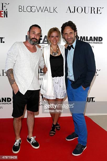 Tobias Bojko attends the AJOURE Berlin Fashion Week Opening Party at LNFA Space Bikini Berlin on July 6 2015 in Berlin Germany