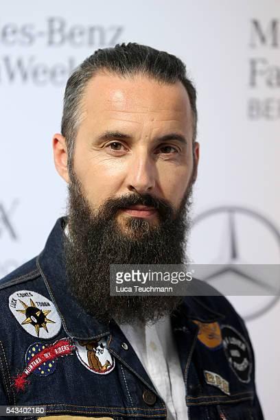 Tobias Bojko attends the Steinrohner show during the MercedesBenz Fashion Week Berlin Spring/Summer 2017 at Erika Hess Eisstadion on June 28 2016 in...