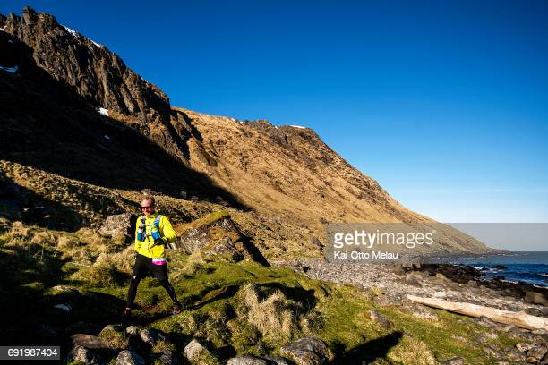 Tobias Bruno at The Arctic Triple Lofoten Ultra on June 3 2017 in Svolvar Norway The Arctic Triple Lofoten Ultra is the second of three races The...