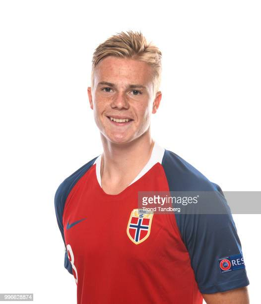 Tobias Christensen of Norway during G19 Men Photocall at Thon Arena on July 11 2018 in Lillestrom Norway