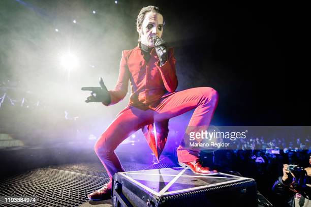 Tobias Forge, aka Cardinal Copia, of Swedish metal band Ghost performs onstage at Wizink Center on December 11, 2019 in Madrid, Spain.