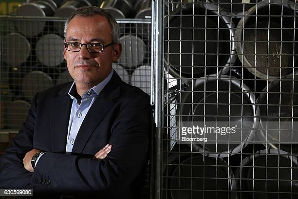Tobias Gerfin chief executive officer of Kuhn Rikon AG poses for a photograph following an interview inside the Kuhn Rikon AG factory in Rikon im...