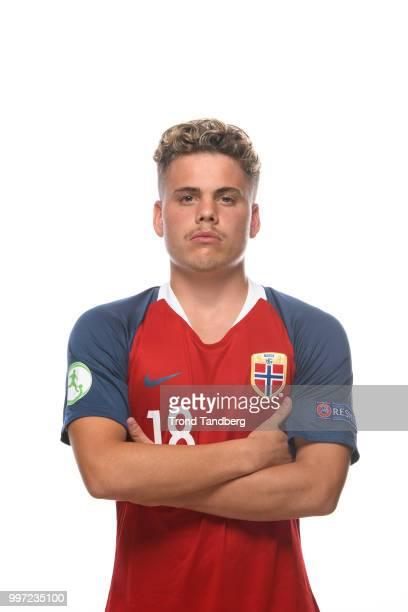 Tobias H Svendsen of Norway during G19 Men Photocall at Thon Arena on July 12 2018 in Lillestrom Norway