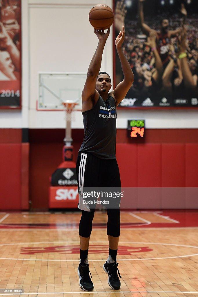 Tobias Harris of Orlando Magic in action during a NBA Global Games Rio 2015 - Practice Day on October 15, 2015 in Rio de Janeiro, Brazil.