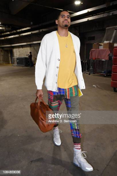Tobias Harris of the LA Clippers arrives prior to a game against the Golden State Warriors on January 18 2019 at STAPLES Center in Los Angeles...