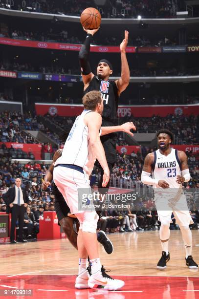 Tobias Harris of the LA Clippers goes to the basket against the Dallas Mavericks on February 5 2018 at STAPLES Center in Los Angeles California NOTE...