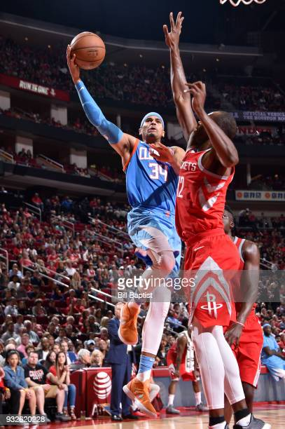 Tobias Harris of the LA Clippers goes to the basket against the Houston Rockets on March 15 2018 at the Toyota Center in Houston Texas NOTE TO USER...
