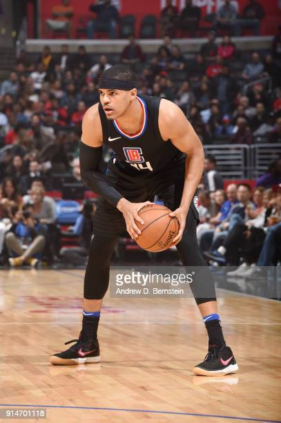 Tobias Harris of the LA Clippers handles the ball against the Dallas Mavericks on February 5 2018 at STAPLES Center in Los Angeles California NOTE TO...