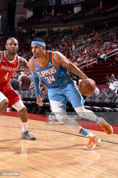 Tobias Harris of the LA Clippers handles the ball against the Houston Rockets on March 15 2018 at the Toyota Center in Houston Texas NOTE TO USER...