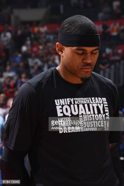 Tobias Harris of the LA Clippers looks on during the game against the Chicago Bulls on February 3 2018 at STAPLES Center in Los Angeles California...