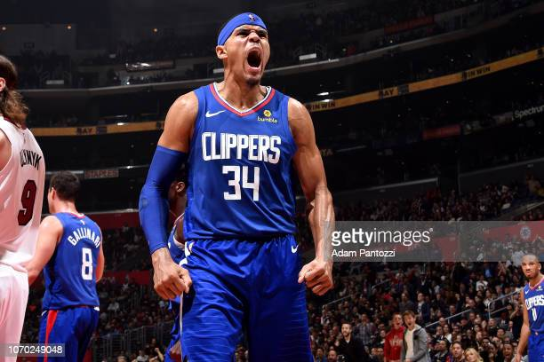 Tobias Harris of the LA Clippers reacts against the Miami Heat on December 8 2018 at STAPLES Center in Los Angeles California NOTE TO USER User...