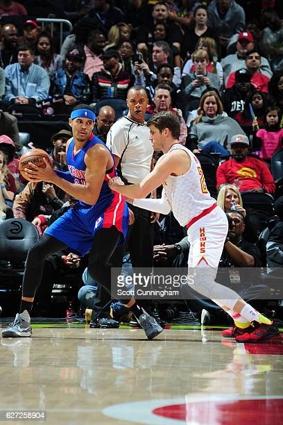 Tobias Harris of the Detroit Pistons handles the ball against the Atlanta Hawks on December 2 2016 at Philips Arena in Atlanta Georgia NOTE TO USER...