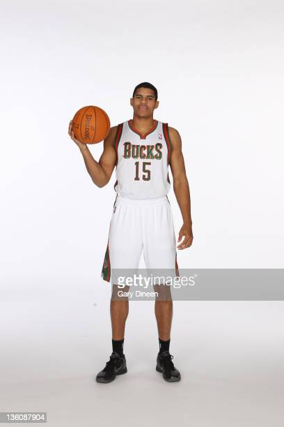 Tobias Harris of the Milwaukee Bucks poses for a portrait during media day at the Cousins Center on December 10 2011 in St Francis Wisconsin NOTE TO...