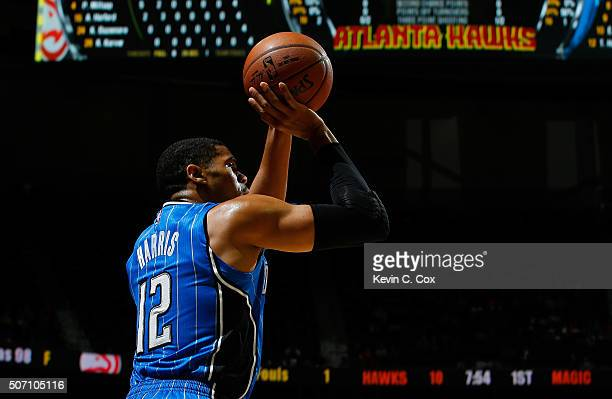 Tobias Harris of the Orlando Magic against the Atlanta Hawks at Philips Arena on January 18 2016 in Atlanta Georgia NOTE TO USER User expressly...