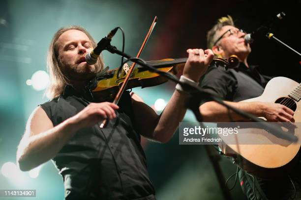 Tobias Heindl and Ralf Albers of Fiddler's Green perform live on stage during a concert at Columbia Theater on May 11 2019 in Berlin Germany