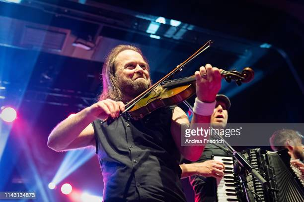 Tobias Heindl and Stefan Klug of Fiddler's Green perform live on stage during a concert at Columbia Theater on May 11 2019 in Berlin Germany