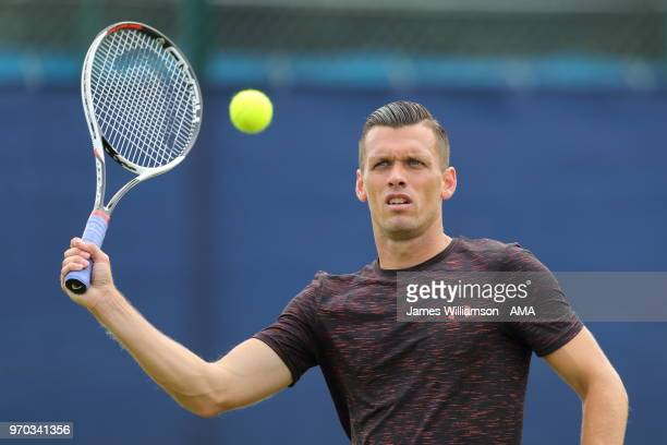 Tobias Kamke of Germany during Day 1 of the Nature Valley open at Nottingham Tennis Centre on June 9 2018 in Nottingham England
