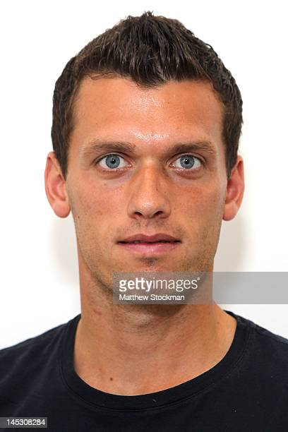 Tobias Kamke poses for a head shot at Roland Garros on May 25 2012 in Paris France