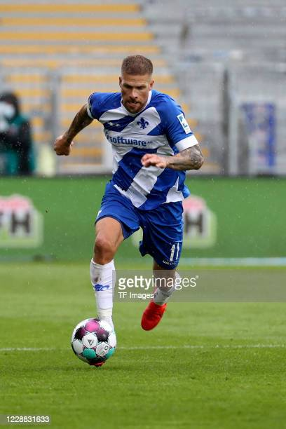 Tobias Kempe of SV Darmstadt 98 during the Second Bandesliga match between SV Darmstadt 98 and SSV Jahn Regensburg at Jonathan-Heimes-Stadion am...