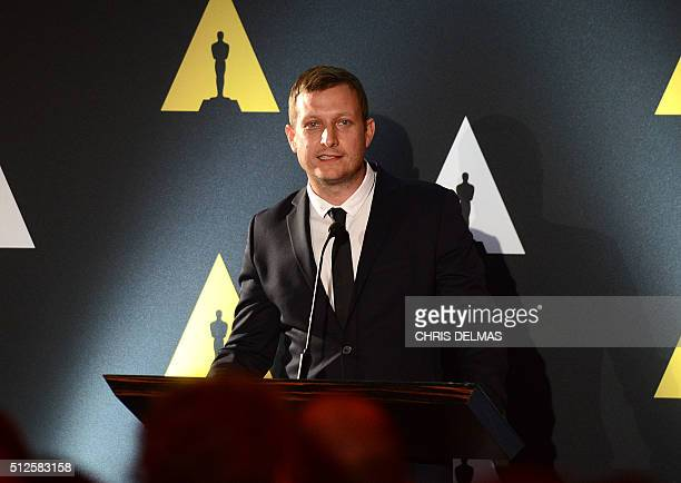 Tobias Lindholm attends the 88th Annual Academy Awards Oscar Foreign Language reception in Beverly Hills California on February 26 2016 DELMAS