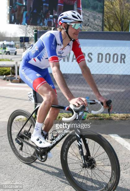 Tobias Ludvigsson of Sweden and Groupama - FDJ during the 75th Dwars Door Vlaanderen 2021 - A travers la Flandre 2021 - on March 31, 2021 in Waregem,...
