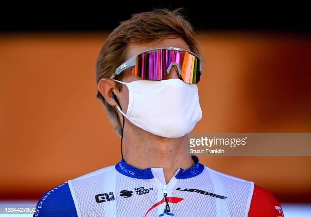 Tobias Ludvigsson of Sweden and Team Groupama - FDJ during the 76th Tour of Spain 2021, Stage 3 a 202,8km stage from Santo Domingo de Silos to...