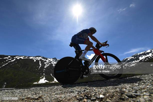Tobias Ludvigsson of Sweden and Team Groupama - FDJ during the 84th Tour de Suisse 2021, Stage 7 a 23,2km Individual Time Trial stage from...