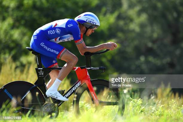 Tobias Ludvigsson of Sweden and Team Groupama - FDJ sprints during the 76th Tour of Spain 2021, Stage 21 a 33,8 km Individual Time Trial stage from...