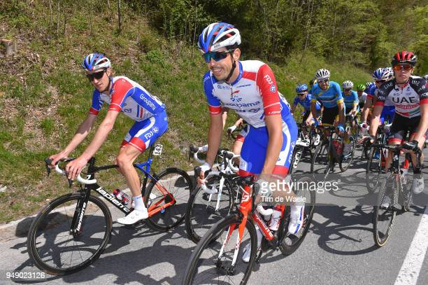 Tobias Ludvigsson of Sweden and Team Groupama FDJ / Steve Morabito of Switzerland and Team Groupama FDJ / during the 42nd Tour of the Alps 2018,...