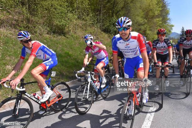Tobias Ludvigsson of Sweden and Team Groupama FDJ / Steve Morabito of Switzerland and Team Groupama FDJ / Thibaut Pinot of France and Team Groupama...