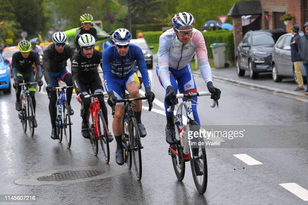 Tobias Ludvigsson of Sweden and Team Groupama-FDJ / Kevin Deltombe of Belgium and Team Sport Vlaanderen-Baloise / Julien Bernard of France and Team...