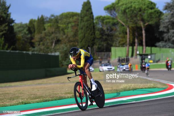 Tobias Ludvigsson of Sweden / during the 93rd UCI Road World Championships 2020, Men Elite Individual Time Trial a 31,7km race from Imola to Imola -...