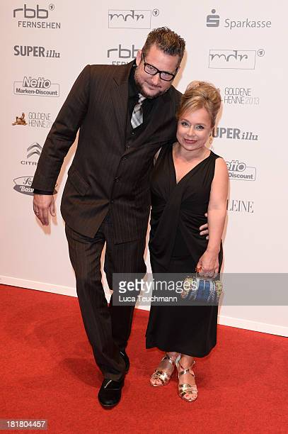 Tobias Materna and Christine Urspruch attend the Goldene Henne 2013 at Stage Theater on September 25 2013 in Berlin Germany