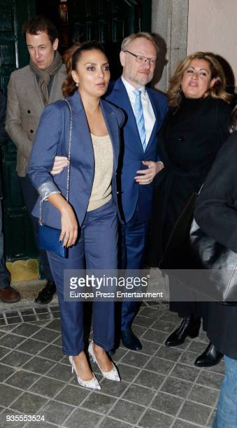 Tobias Menzies and Jared Harris are seen leaving Lando restaurant on March 20 2018 in Madrid Spain